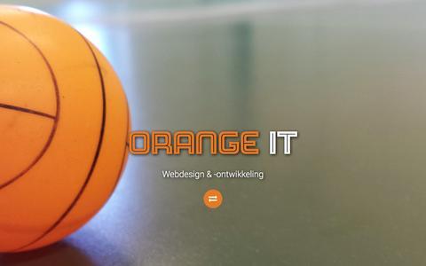 Screenshot of Home Page orangeit.nl - Home | Orange IT - captured Jan. 7, 2016