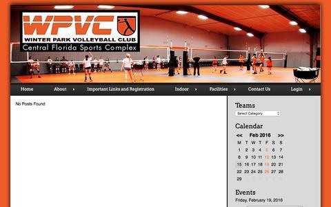 Screenshot of Login Page wpvc.org - | Winter Park VolleyBall Club - captured Feb. 15, 2016