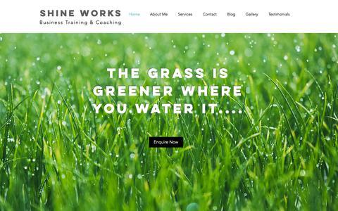 Screenshot of Home Page shineworks.co.uk - shineworks2018 - captured Oct. 20, 2018