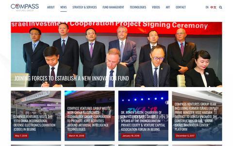 Screenshot of Press Page compassvgg.com - News | Compass - captured Sept. 29, 2018