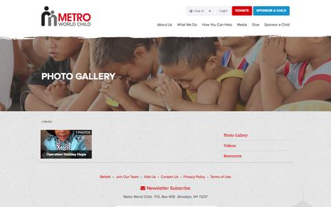 Screenshot of Press Page metroworldchild.org.ph - Photo Gallery · Metro World Child - captured March 6, 2016
