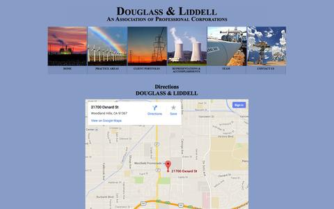 Screenshot of Maps & Directions Page energyattorney.com - Douglass & Liddell - captured Oct. 6, 2014