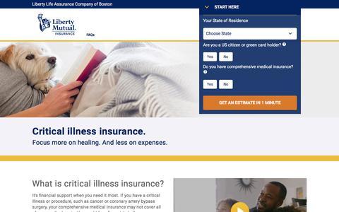 Individual Critical Illness Insurance