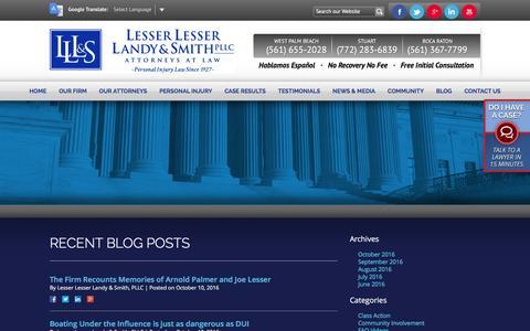 Screenshot of Blog lesserlawfirm.com - Blog | Lesser Lesser Landy & Smith PLLC - captured Nov. 6, 2016