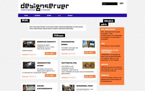 Screenshot of Blog designserver.nl - BloG - Designserver - captured June 2, 2016