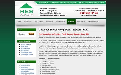 Screenshot of Services Page easyelectronicsolutions.com - Home Automation Service | Home Theater Service | Security System Service | Surveillance System Service - captured Oct. 2, 2014