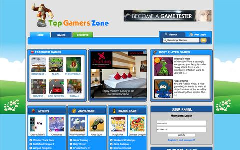 Screenshot of Home Page topgamerszone.com - TopGamersZone.com - captured Aug. 17, 2015