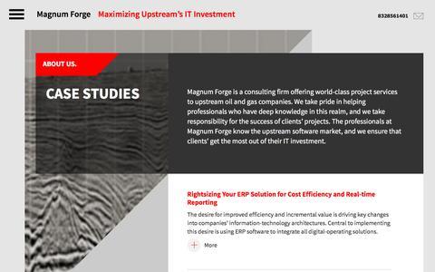 Screenshot of Case Studies Page magnumforge.com - Case Studies – Magnum Forge - captured July 22, 2016