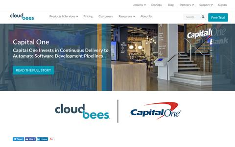 Screenshot of Case Studies Page cloudbees.com - Capital One Invests in Continuous Delivery to Automate Software Development Pipelines | CloudBees - captured Aug. 8, 2018