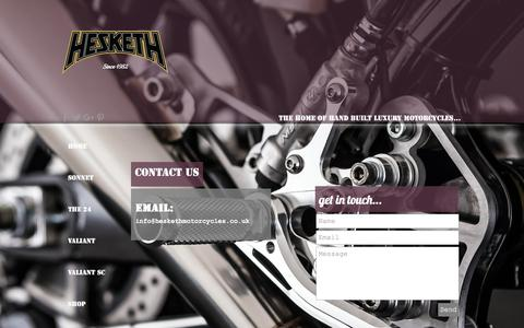 Screenshot of Contact Page heskethmotorcycles.co.uk - Hesketh Contact - captured May 18, 2017