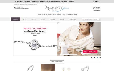 Bijouterie en ligne Adamence - Bijoux diamant en ligne