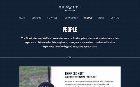 Screenshot of Team Page gravityenv.com - People  |  Gravity Consulting – Aquatic field studies and analysis. - captured Oct. 3, 2014