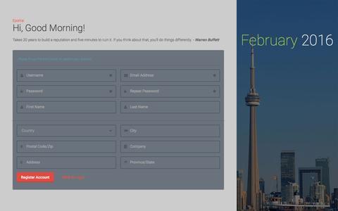 Screenshot of Signup Page eenova.com - Eportal - captured Feb. 10, 2016