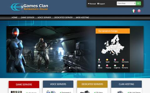 Screenshot of Home Page gamesclan.com - Game Servers | Teamspeak 3 Server | Server Hosting - captured May 14, 2017