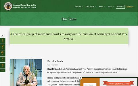 Screenshot of Team Page ancienttreearchive.org - Champion Tree Team | Archangel Ancient Tree Archive - captured Nov. 21, 2016