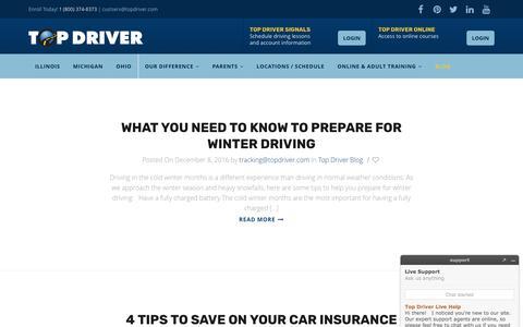 Top Driver Drivers Education Blog - Top Driver Driving School