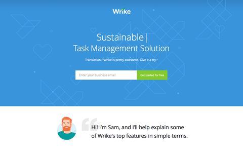 Screenshot of Landing Page wrike.com - Best Project Management Solution - captured Feb. 15, 2017