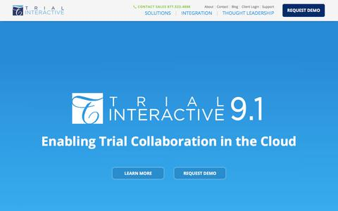 Trial Interactive | Enabling Trial Collaboration in the Cloud