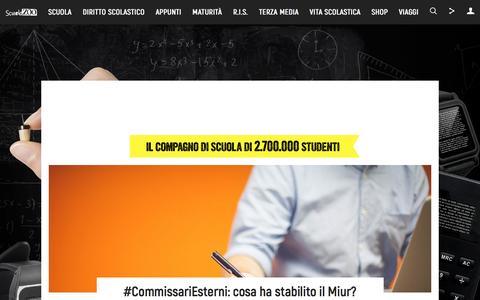 Screenshot of Home Page scuolazoo.com - ScuolaZoo - captured May 27, 2017