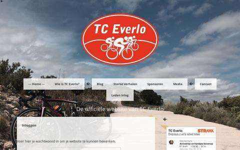 Screenshot of Login Page tceverlo.nl - Inloggen - De website van TC Everlo! - captured May 28, 2016