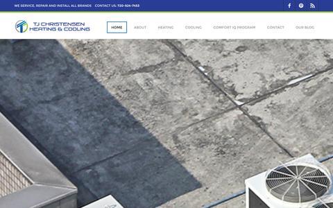 Screenshot of Home Page tjhvacr.com - HOME - captured Sept. 22, 2014