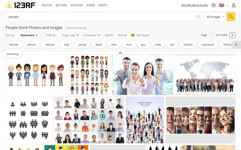 Screenshot of Team Page 123rf.com - People Stock Photos. Royalty Free People Images - captured Nov. 6, 2018