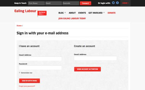 Screenshot of Login Page nationbuilder.com - Sign in - captured June 30, 2016