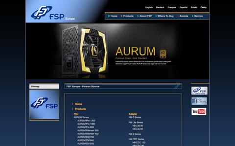 Screenshot of Site Map Page fsp-europe.com - FSP Europe - Fortron Source - captured Sept. 22, 2014
