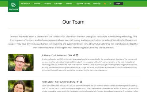 Screenshot of Team Page cumulusnetworks.com - Cumulus Networks | Cumulus Team - captured Nov. 5, 2015