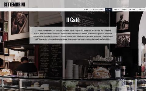 Screenshot of Home Page viasettembrini.com - Caffé - Settembrini - captured Sept. 2, 2015