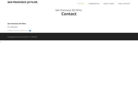 Screenshot of Contact Page sanfrancisco3dfilms.com - Contact   San Francisco 3D Films - captured Dec. 22, 2015