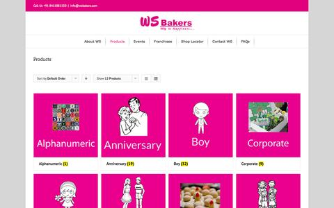 Screenshot of Products Page wsbakers.com - WS Bakers -   Products - captured Nov. 13, 2015