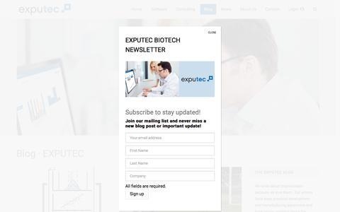 Screenshot of Blog exputec.com - Blog · EXPUTEC - captured July 23, 2018