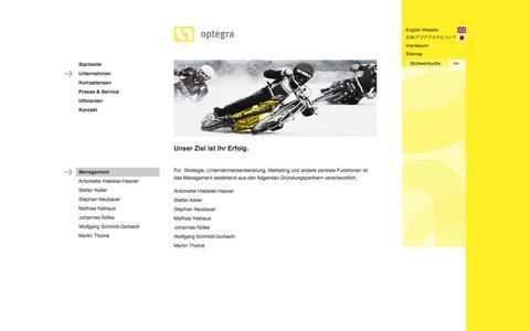 Screenshot of Team Page optegra.de - optegra: Management - captured Oct. 1, 2014