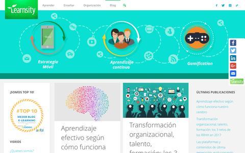 Screenshot of Blog learnsity.com - Learnsity – Learnsity proporciona conocimientos a través de su innovadora tecnología eLearning de fácil y rápido uso. Optimiza costos, tiempo y recursos. - captured May 10, 2017