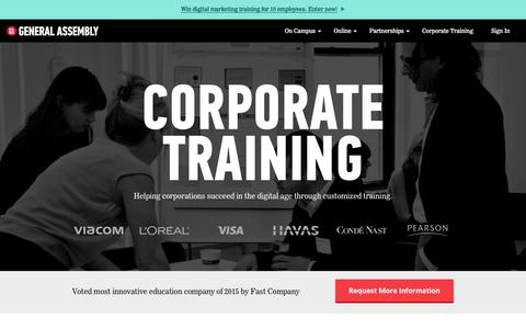 Corporate Training | Digital Training | General Assembly