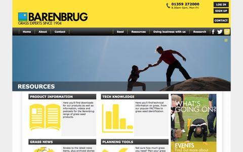 Screenshot of Support Page barenbrug.co.uk - Barenbrug - Resources - captured Dec. 30, 2015