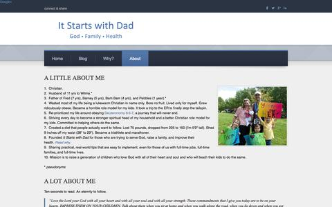 Screenshot of About Page itstartswithdad.com - About - It Starts with Dad - captured Sept. 30, 2014