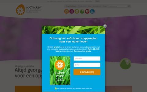 Screenshot of Home Page sochicken.nl - soChicken - Broeden op een leuker leven. - captured Nov. 22, 2015