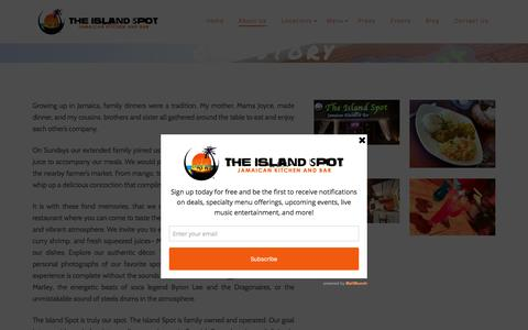 Screenshot of About Page theislandspot.com - Our Story – The Island Spot | The Island Spot - captured Oct. 10, 2016