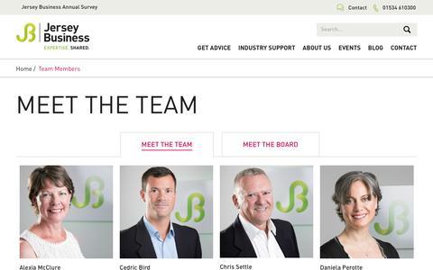 Screenshot of Team Page jerseybusiness.je - Team Members | Jersey Business - captured Nov. 27, 2016