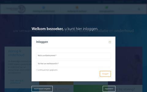 Screenshot of Login Page esnw.nl - CV-ketel en verwarmingsspecialist ESNW -  Uw gaswacht - captured Sept. 28, 2018
