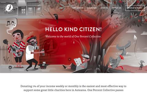 Screenshot of Signup Page onepercentcollective.org - Donate Now — One Percent Collective - captured Jan. 10, 2016