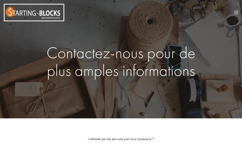 Screenshot of Contact Page starting-blocks.ch - Contact — Starting-Blocks - captured May 10, 2017