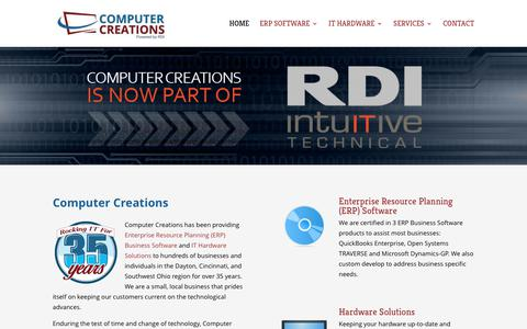 Screenshot of Home Page ccicreations.com - Computer Creations - ERP Software, Hardware Solutions - Centerville, Dayton, Cincinnati, Ohio - captured Aug. 20, 2017