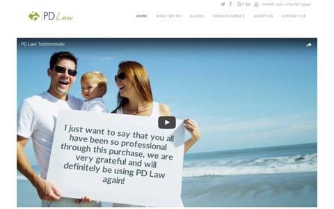 Screenshot of Testimonials Page pdlaw.com.au - PD Law | Queensland Lawyers | Whitsundays | Mackay | Rockhampton | Townsville | Solicitors | Family Law |Property Lawyers | Conveyancing | Estate Planning |Commercial Business Law | Hamilton Island Property Law | Criminal Law |Marina Berths | Wills   - captured July 6, 2017