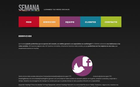 Screenshot of Services Page proyectosemana.com - SEMANA - captured Oct. 27, 2014