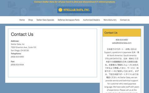 Screenshot of Contact Page stellardata.com - Contact Us - captured Oct. 25, 2017
