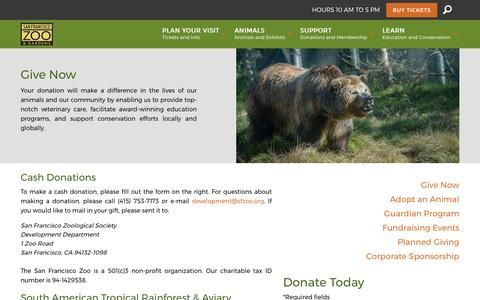 San Francisco Zoo - Donate