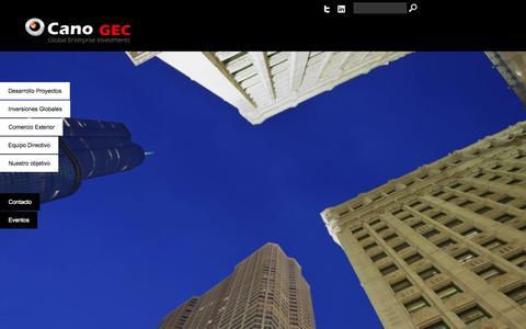 Screenshot of Terms Page canogec.com - condiciones de uso - captured Sept. 30, 2014